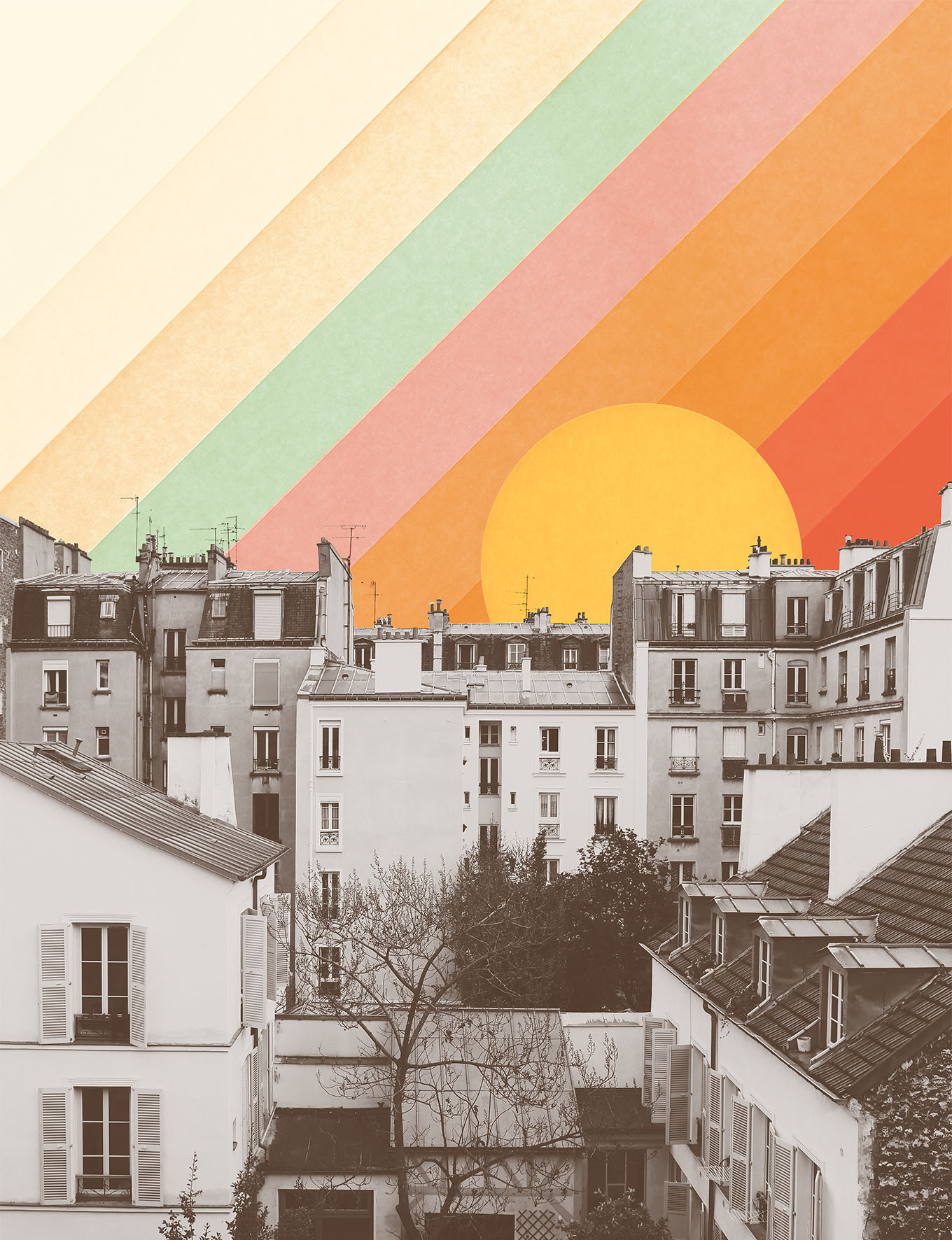 <dive><h1>Rainbow Sky Above Paris</h1></dive>