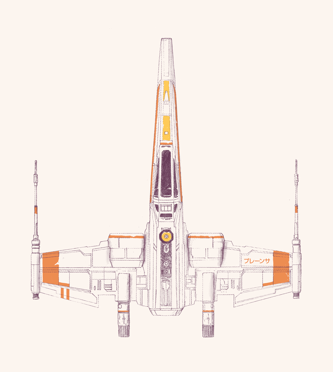 <dive><h1>X-Wing</h1>Spaceship</dive>